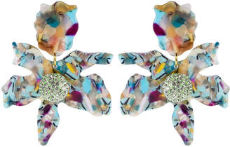 Lele Sadoughi Designs Turquoise Confetti Crystal Lily Earrings