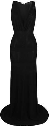 Elisabetta Franchi Ribbed-Knit Gown