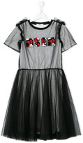 MSGM tulle and jersey dress
