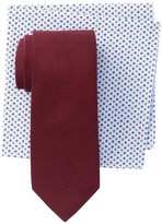 Alara Albany Solid Tie & Pocket Square Boxed Set