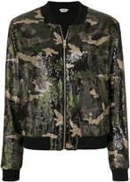 Liu Jo camouflage sequin bomber jacket