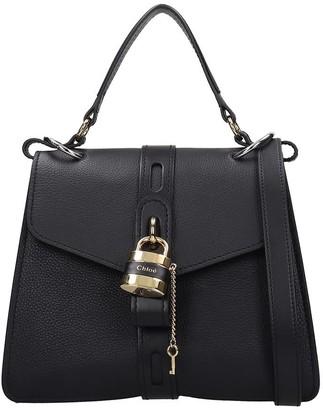 Chloé Aby Media Shoulder Bag In Black Leather