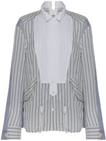 Sacai Pin Stripe Tuxedo Bib Shirt