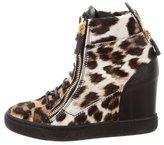 Giuseppe Zanotti Leopard Wedge Sneakers
