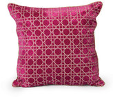 "Jay Strongwater Trellis Pillow, 20""Sq."