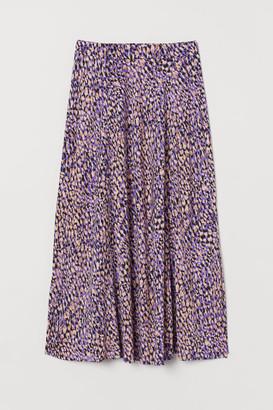 H&M Patterned jersey skirt