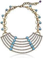 "m. haskell Purple by Riviera"" Turquoise Faceted Bead Multi-Row Necklace"