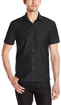 Perry Ellis Men's Iridescent Diamond Jacquard Shirt