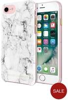 Rebecca Minkoff Stylish & Slim Protective Double-Up Marble Case For IPhone 7 - Silver Foil