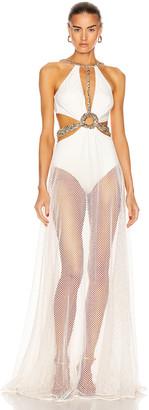 PatBO Beaded Cutout Beach Dress in White | FWRD