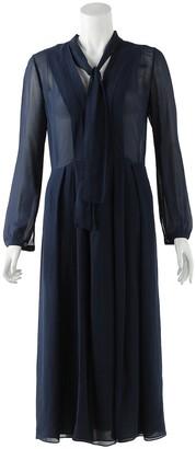 Burberry Navy Silk Dresses