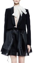 Lanvin Long-Sleeve Shawl-Collar Jacket, Black