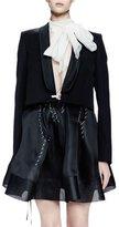Lanvin Long-Sleeve Shawl-Collar Jacket, Black
