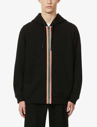 Burberry Lexington contrast-stripe cotton hoody