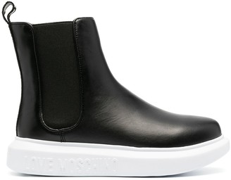 Love Moschino leather Chelsea boots