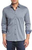 Stone Rose Classic Fit Heathered Jersey Sport Shirt