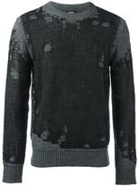 Diesel distressed jumper - men - Acrylic/Wool/Alpaca - XXL
