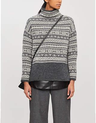 Max Mara S Agrume geometric-pattern knitted jumper