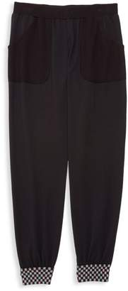 Terez Girl's Checkerboard Thermal Joggers