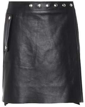 Shiryn studded leather miniskirt