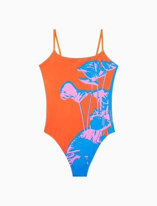 Calvin Klein Core Print One-Piece Swimsuit