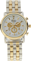 Geneva Platinum Two-Tone Faux Chronograph Watch