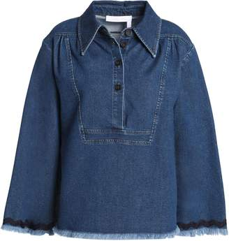 See by Chloe Frayed Denim Shirt