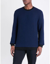 Calvin Klein Textured-knit Stretch-knit Jumper