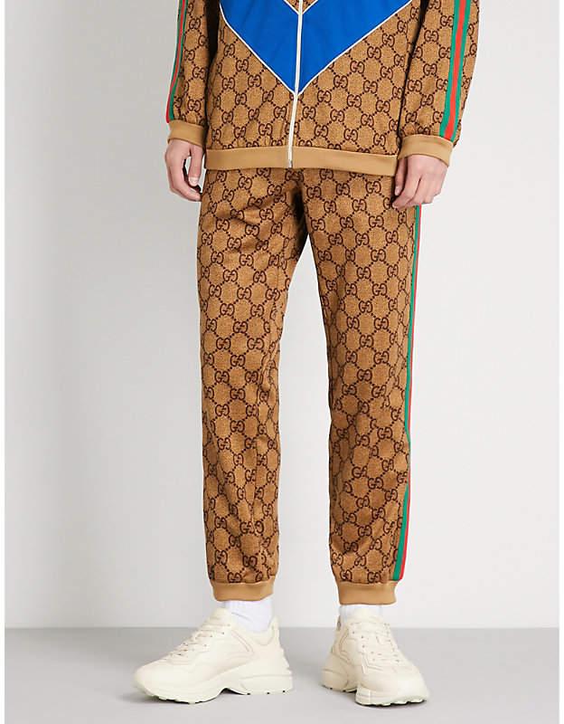 Gucci GG-intarsia jersey jogging bottoms