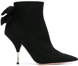 Rochas Bow Heeled Ankle Boots