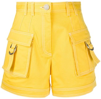 Balmain High-Waisted Cargo Shorts