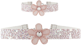 Monsoon Glitter Flower Choker & Bracelet Set