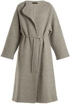 The Row Mani collarless wool-blend coat