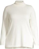 Thumbnail for your product : Joan Vass, Plus Size Knit Turtleneck Tunic
