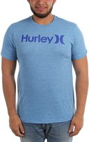 Hurley Mens One & Only T-Shirt, Large, Ice Cube/Fountain Blue
