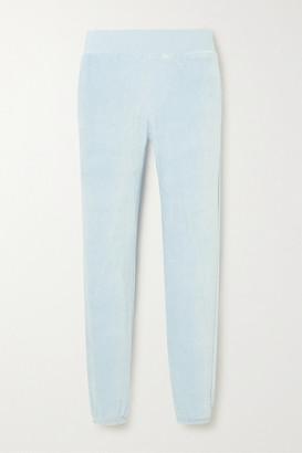 CALÉ Sonia Stretch-velour Track Pants - Blue