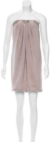 Azzaro Silk Jeweled Dress