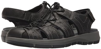 Clarks Brixby Cove (Black Leather) Men's Sandals