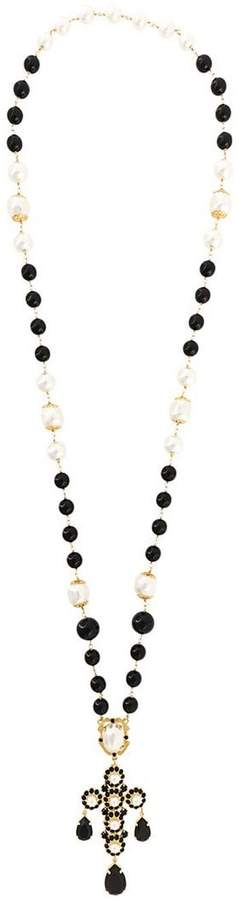 Dolce & Gabbana crystal bead lariat necklace
