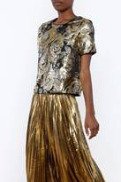Ark & Co Metallic Evening Blouse