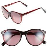 Maui Jim Women's 'Mannikin' 54Mm Cat Eye Sunglasses - Brown Stripe/ Hcl Bronze
