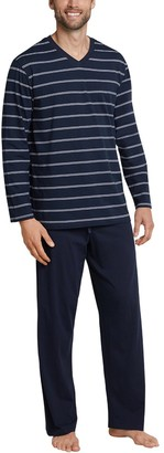 Schiesser Herren Anzug Lang Pyjama Sets