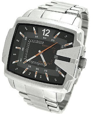 Diesel Men's DZ1497 Not So Basic Basic Silver Watch