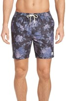 Globe Men's Lynch Floral Print Swim Trunks