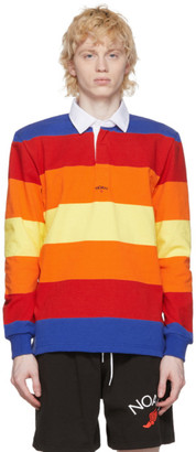 Noah NYC Multicolor Stripe Rugby Polo
