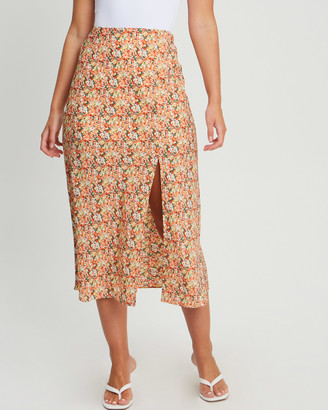 Tussah - Women's Orange Midi Skirts - Sonali Skirt - Size One Size, 6 at The Iconic