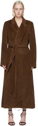 Totême Brown Alpaca Wrap Coat