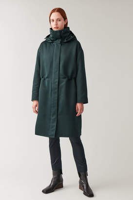 Cos HOODED HIGH COLLAR COAT