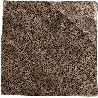 Saint Laurent Leopard-Print Large Square Scarf