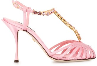 Dolce & Gabbana crystal-embellished T-bar sandals